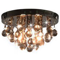 vidaXL Stropna svetilka z dimastimi kroglicami črna okrogla G9