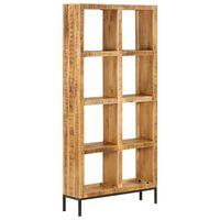 vidaXL Knjižna polica 80x25x175 cm trden mangov les