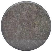 vidaXL Mizna plošča črna Ø 60x2,5 cm marmor
