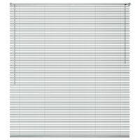 vidaXL Žaluzije za Okna Aluminij 120x160 cm Srebrne Barve