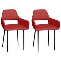 vidaXL Jedilni stoli 2 kosa rdeče umetno usnje
