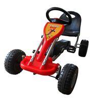 vidaXL Gokart na pedale rdeče barve