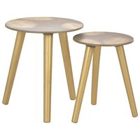 vidaXL Komplet stranskih mizic 2 kosa zlate 40x45 cm/30x40 cm MDF