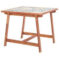 vidaXL Vrtna jedilna miza 88x88x75 cm plošča in les akacije
