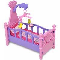 Otroška Posteljica za Lutke / Punčke Roza + Vijolične Barve