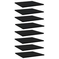 vidaXL Dodatne police za omaro 8 kosov črne 40x40x1,5 cm iverna plošča