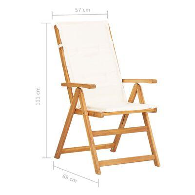 vidaXL Vrtni stoli s prilagodljivim naslonjalom 2 kosa rjava akacija