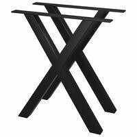 vidaXL Noge za jedilno mizo 2 kosa X okvir 70x72 cm
