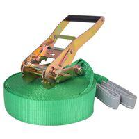 vidaXL Slackline vrv 15 m x 50 mm 150 kg zelene barve