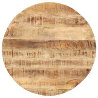 vidaXL Mizna plošča iz trdnega mangovega lesa okrogla 15-16 mm 50 cm