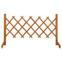 vidaXL Vrtna mrežasta ograja oranžna 120x60 cm les jelke
