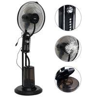 vidaXL Stoječ ventilator z meglico 3 hitrosti črn