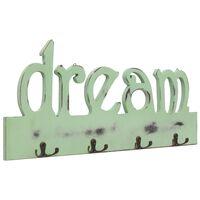 vidaXL Stenski obešalnik za plašče DREAM 50x23 cm