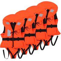 vidaXL Otroški rešilni jopič 4 kosi 100 N 10-20 kg