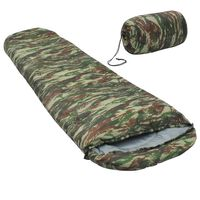 vidaXL Lahka spalna vreča kamuflažna 15 °C 850 g