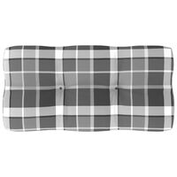 vidaXL Blazina za kavč iz palet siv karo vzorec 80x40x12 cm