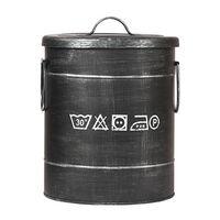 LABEL51 Koš za perilo 26x26x33 cm S antično črn