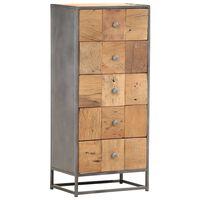 vidaXL Predalnik 45x30x100 cm iz trdnega predelanega lesa