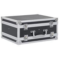 vidaXL Kovček za pištolo aluminij in ABS črn