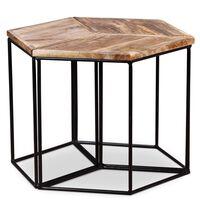 vidaXL Klubska mizica iz masivnega mangovega lesa 48x48x40 cm