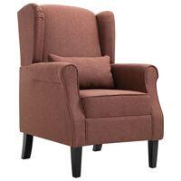 vidaXL Fotelj iz rjavega blaga