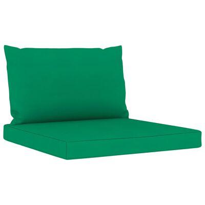 vidaXL Blazine za kavč iz palet 2 kosa zeleno blago