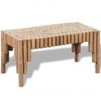 vidaXL Klubska mizica iz bambusa