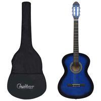 """vidaXL Klasična kitara za začetnike 12-delni komplet modra 4/4 39"""""""