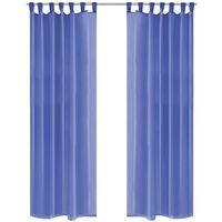 vidaXL Prosojne zavese 2 kosa 140x175 cm kraljevsko modre barve