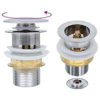 vidaXL Sifon brez funkcije proti prelivanju srebrn 6,4x6,4x9,1 cm