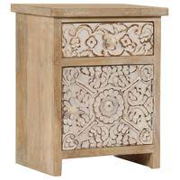 vidaXL Nočna mizica iz trdnega mangovega lesa 40x30x50 cm