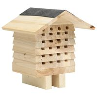 vidaXL Hotel za čebele trden les jelke 22x20x20 cm