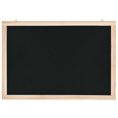 vidaXL Stenska črna tabla iz cedrovine 40x60 cm