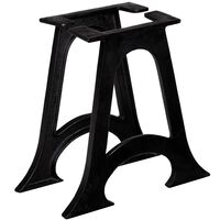 vidaXL Noge za klubsko mizico 2 kosa zaobljene A oblike lito železo