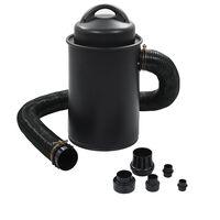 vidaXL Zbiralnik prahu z adapterjem črn 1100 W