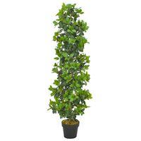 vidaXL Umetna rastlina lovorovo drevo z loncem zelena 150 cm