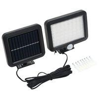 vidaXL Solarna svetilka s senzorjem gibanja LED diode bele barve