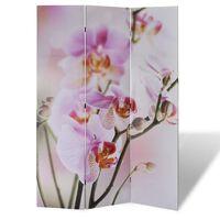vidaXL Zložljiv paravan 200x170 cm cvetje