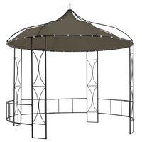 vidaXL Paviljon 300x290 cm taupe okrogel