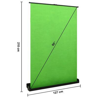 """vidaXL Studijsko ozadje za fotografiranje zeleno 60"""" 4:3"""