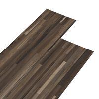 vidaXL PVC talne plošče 5,26 m² 2 mm črtasto rjave