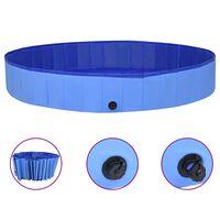 vidaXL Zložljiv bazen za pse moder 300x40 cm PVC