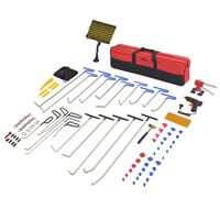 vidaXL 87-delni komplet orodja za popravilo udrtin nerjaveče jeklo