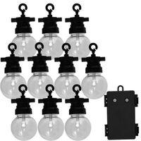 Luxform Komplet vrtnih luči za zabave z 10 LED žarnicami Fiji