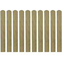 vidaXL Impregnirane ograjne letve 30 kosov lesene 80 cm