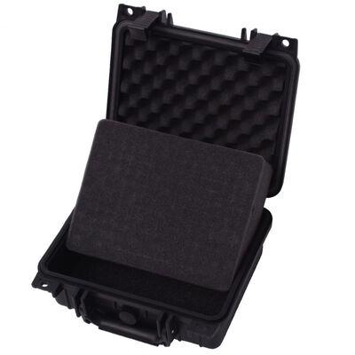 vidaXL Zaščitni Kovček za Opremo 27x24.6x12.4 cm Črne Barve