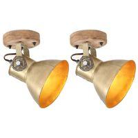 vidaXL Industrijske stenske/stropne svetilke 2 kos medeninaste 20x25cm
