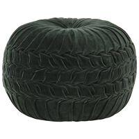 vidaXL Tabure iz bombažnega žameta vezeni dizajn 40x30 cm zelen