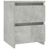 vidaXL Nočna omarica betonsko siva 30x30x40 cm iverna plošča