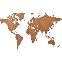 MiMi Innovations Lesen zemljevid sveta Luxury rjav 90x54 cm